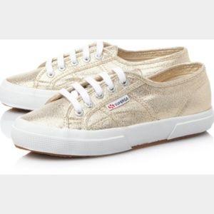[Superga] Gold Sparkle LAMEW Sneaker